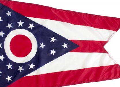 Ohio Flag Closeup