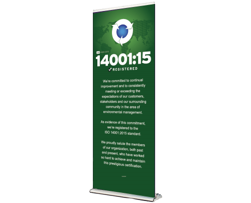 ISO 14001 Retractable Banner