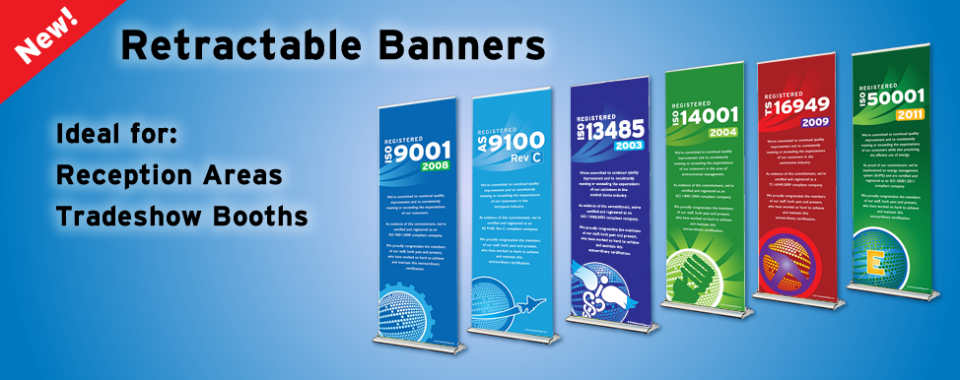 Retractable ISO Banners