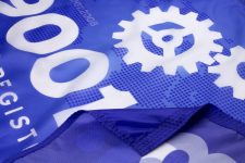 ISO 9001 2008 Flag Close Up