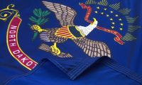 North Dakota Flag Close Up