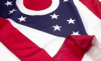 Ohio Flag Close Up