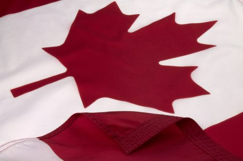Canada Flag Close Up