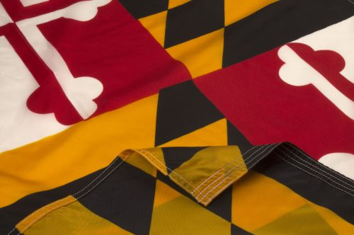 Maryland Flag Close Up